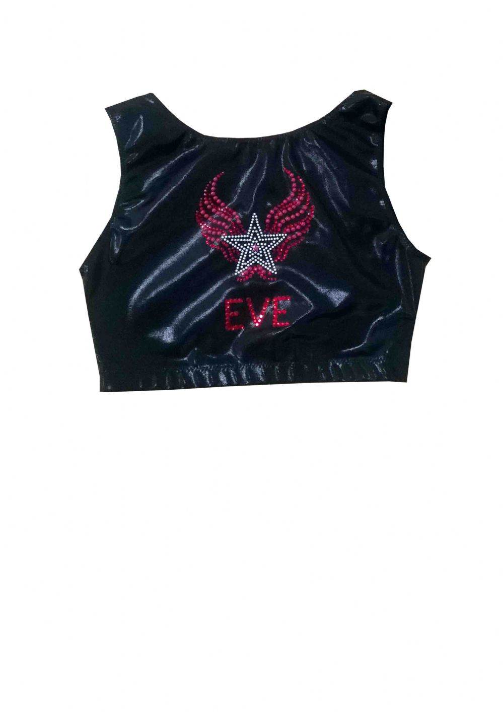 EARL410 Plain and Personalised Metallic and Velour Crop Tops With Star Motif  From £18.95